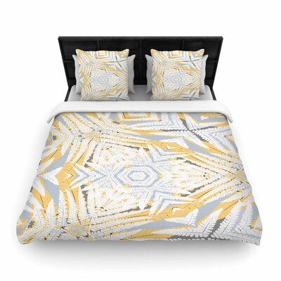 Alison Coxon Planthouse Woven Duvet Cover Color: Yellow, Size: King