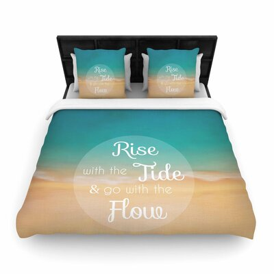 Alison Coxon Rise With the Tide Woven Duvet Cover Size: King