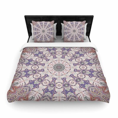Alison Coxon Jungle Kaleidoscope Woven Duvet Cover Color: Purple, Size: King