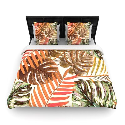 Alison Coxon Jungle Rust Woven Duvet Cover Size: King
