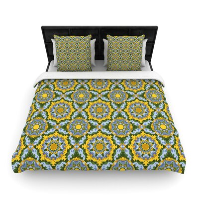Alison Soupcoff Sunflower Woven Duvet Cover Size: Full/Queen