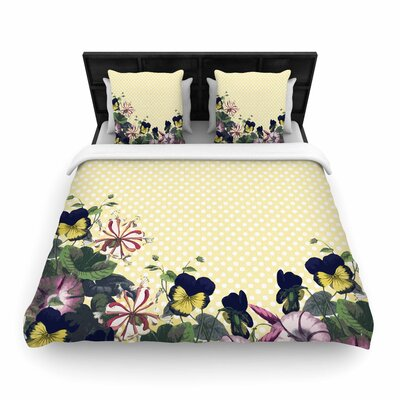 Alison Coxon 'Polka Dot' Woven Duvet Cover Size: Full/Queen