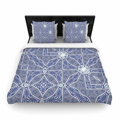 Alison Coxon Santorini Tile Woven Duvet Cover Size: King