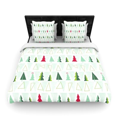 Allison Beilke Pining for Christmas Holiday Woven Duvet Cover