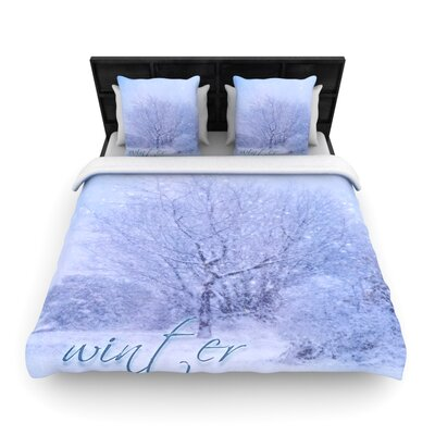 Alison Coxon 'Winter Tree' Woven Duvet Cover Size: King