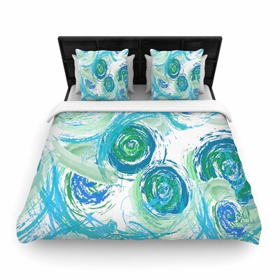 Alison Coxon Sophia Woven Duvet Cover Color: Green/Blue, Size: Full/Queen