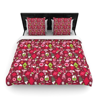 Allison Beilke Holiday Spirits Holiday Woven Duvet Cover Size: Full/Queen