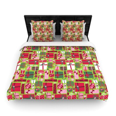 Allison Beilke Prezzies Holiday Woven Duvet Cover Size: Full/Queen