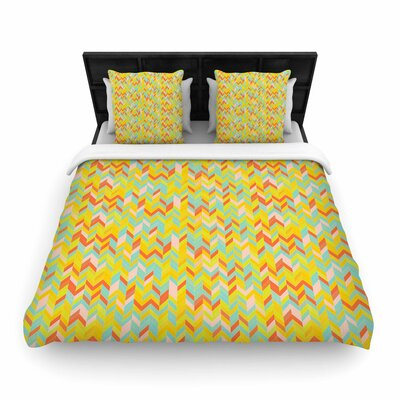 Allison Soupcoff Chevron Pop Woven Duvet Cover Size: Twin