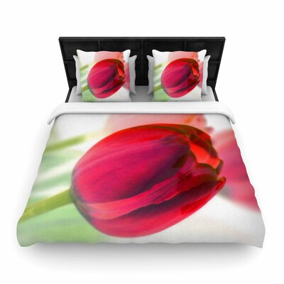 Alison Coxon Tulips Woven Duvet Cover Size: Full/Queen