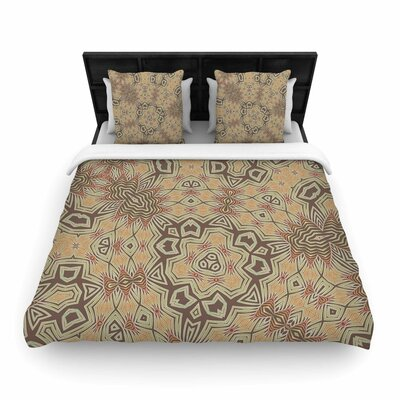 Alison Coxon Tribal Woven Duvet Cover Color: Tan/Lavender, Size: Full/Queen