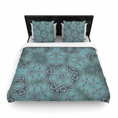 Alison Coxon Tribal Water Woven Duvet Cover Size: Twin