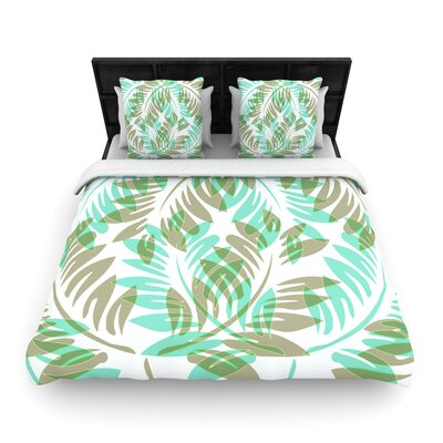 Alison Coxon Winter Fern Woven Duvet Cover Size: Twin