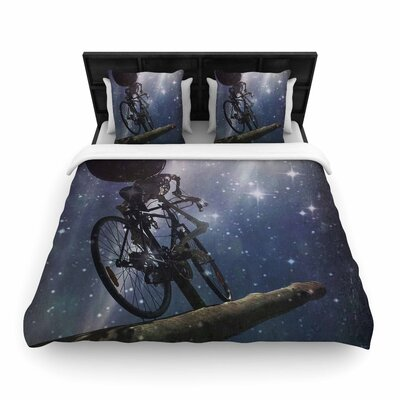 alyZen Moonshadow No Rest for the Wicked Galactic Woven Duvet Cover Size: King