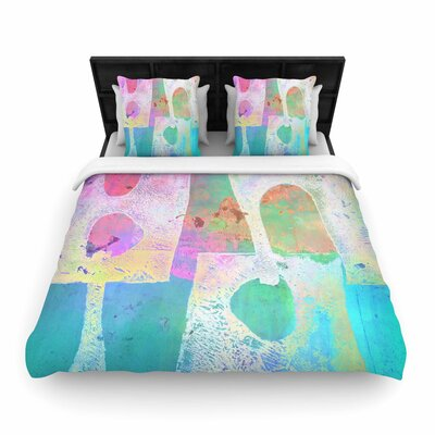 AlyZen Moonshadow Villi Woven Duvet Cover Size: King