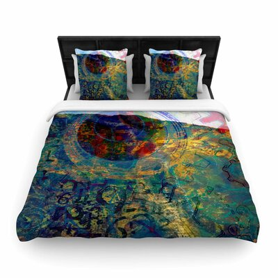 AlyZen Moonshadow Discover 3 Woven Duvet Cover Size: Twin