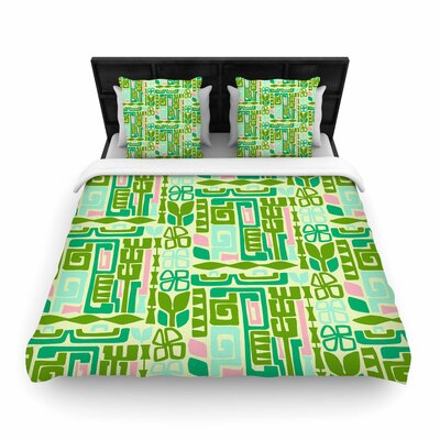 Amy Reber Maze Vector Woven Duvet Cover Size: Full/Queen