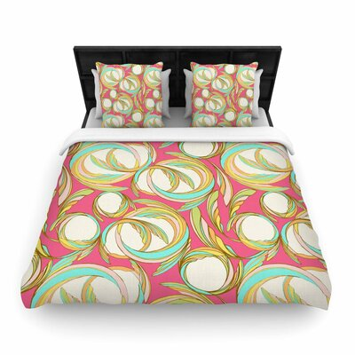 Amy Reber Circle Sings Woven Duvet Cover Size: Twin