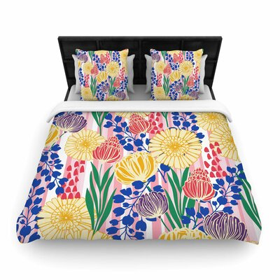 Amy Reber Pretty Bouquet Floral Woven Duvet Cover Size: Full/Queen
