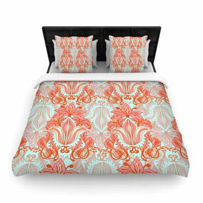 Amy Reber Baroque Woven Duvet Cover Size: King