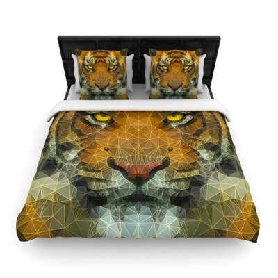 Ancello Be Wild Geometric Woven Duvet Cover Size: Twin