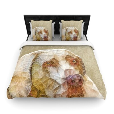 Ancello Abstract Dog Geometric Woven Duvet Cover Size: Twin