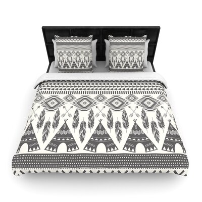 Amanda Lane Native Roots Woven Duvet Cover Size: Full/Queen