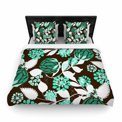 Amy Reber Bold Relief Woven Duvet Cover Size: King