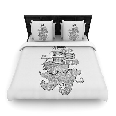 Belinda Gilles Ships Ahoy Nautical Woven Duvet Cover