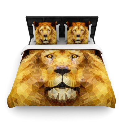 Ancello Lion King Woven Duvet Cover Size: Full/Queen