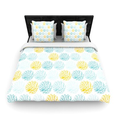 Anchobee Coralina Woven Duvet Cover Size: Full/Queen
