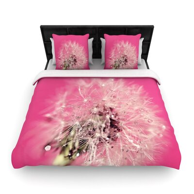 Beth Engel Pink Twilight Dandelion Woven Duvet Cover Size: Twin