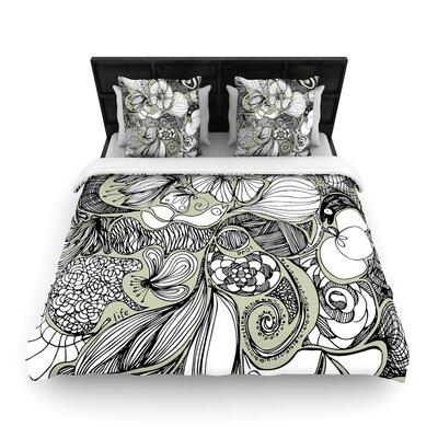 Anchobee Doodle Dos Woven Duvet Cover Size: King