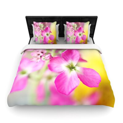 Beth Engel Lucky One Floral Photography Woven Duvet Cover Size: King