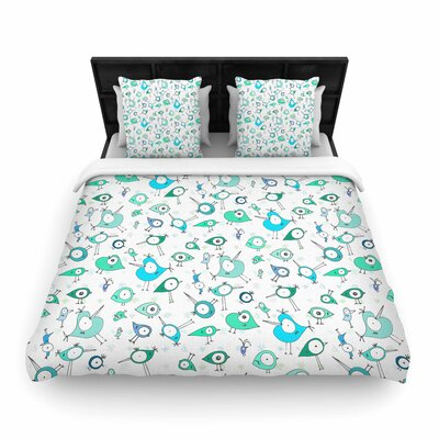 Anchobee Birdies Woven Duvet Cover Size: Twin