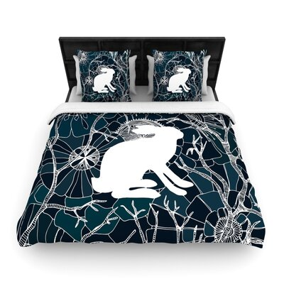 Anchobee Hare Woven Duvet Cover Size: Full/Queen