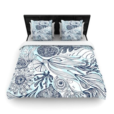 Anchobee Marina Woven Duvet Cover Size: Full/Queen
