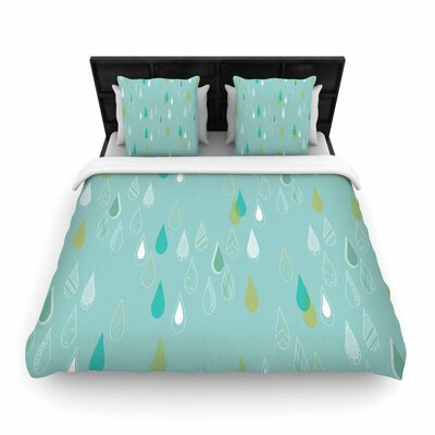 Bridgette Burton Feathe Rain Woven Duvet Cover