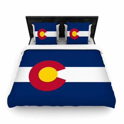 Bruce Stanfield Colorado State Flag Woven Duvet Cover Size: King