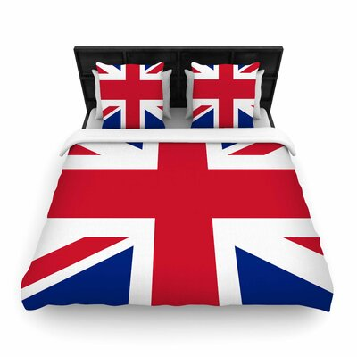 Bruce Stanfield Classic Union Jack Woven Duvet Cover Size: King