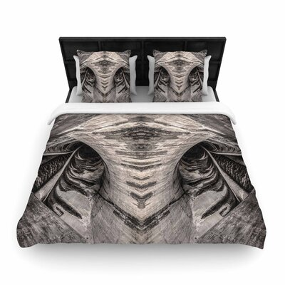 Bruce Stanfield Dam Reticulation the Void Woven Duvet Cover Size: Full/Queen