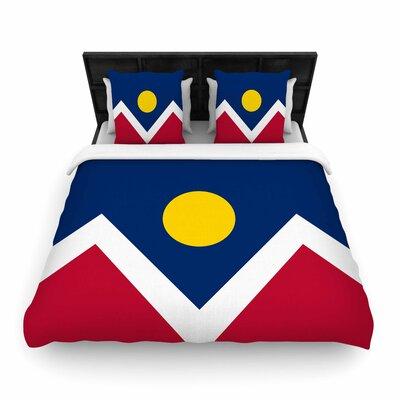 Bruce Sfield Denver Colorado City Flag Vector Geometric Woven Duvet Cover