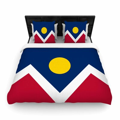 Bruce Stanfield Denver Colorado City Flag Vector Geometric Woven Duvet Cover Size: Full/Queen