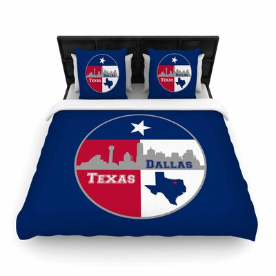Bruce Stanfield 'Dallas Texas' Woven Duvet Cover Size: Full/Queen