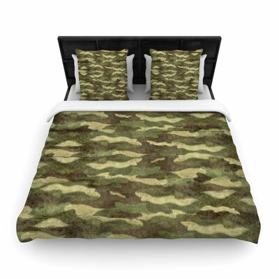 Bruce Stanfield Dirty Camo Woven Duvet Cover Size: King