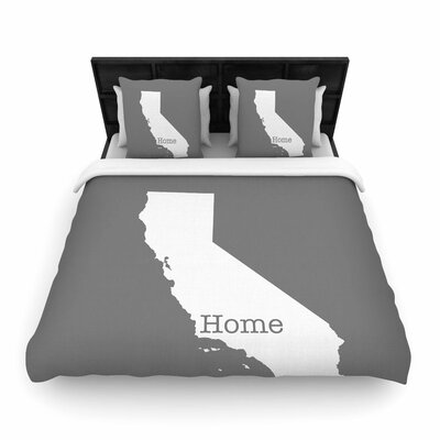 Bruce Stanfield California is Home Woven Duvet Cover Size: Twin
