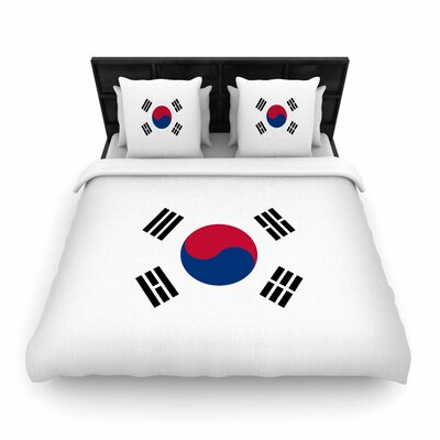 Bruce Stanfield Flag of Korea Digital Woven Duvet Cover Size: King