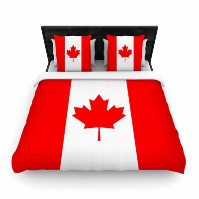Bruce Stanfield Flag of Canada Woven Duvet Cover Size: Full/Queen
