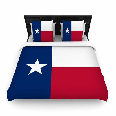 Bruce Stanfield Flag of Texas Woven Duvet Cover Size: Twin