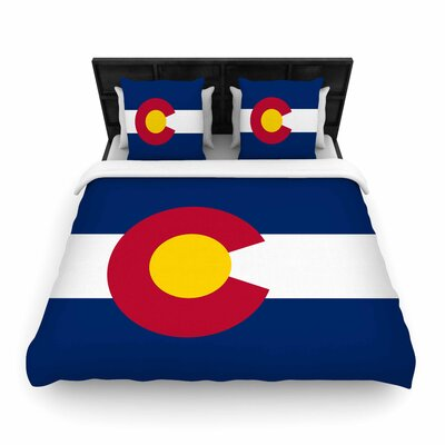 Bruce Stanfield Flag of Colorado II Woven Duvet Cover Size: King